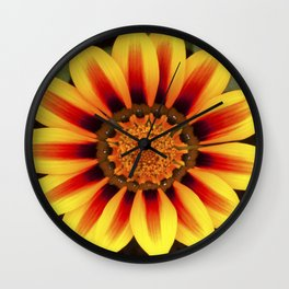 Gazania Flower Wall Clock