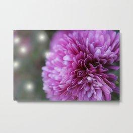 Purple Flower 2 Lights Metal Print