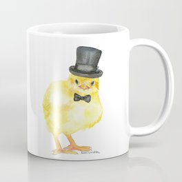 Top Hat Chick Watercolor Kaffeebecher
