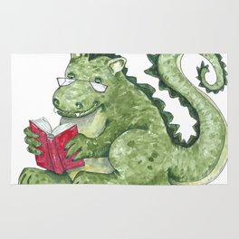 Dragon A Book OUt Rug