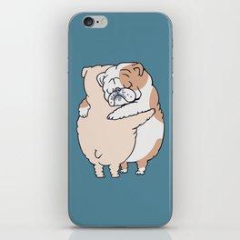 English Bulldog Hugs iPhone Skin