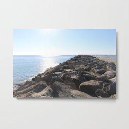 Rocks By The Ocean Metal Print