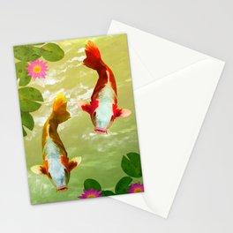 Koi Carp Fish Stationery Cards
