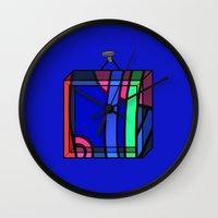 frames Wall Clocks featuring Frames 01 by Stefan Stettner