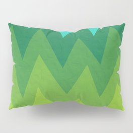 Green Summer Forest Pillow Sham