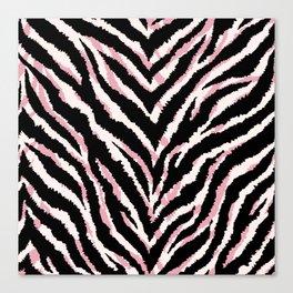 Zebra fur texture print Canvas Print