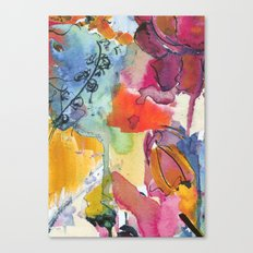 Abstract floral watercolour Canvas Print