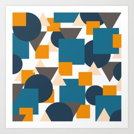 Geometric Mixture Art Print