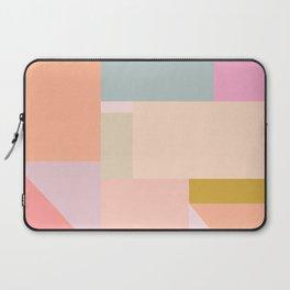 Pastel Geometric Graphic Design Laptop Sleeve