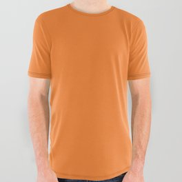 Tangerine - Solid Color Collection All Over Graphic Tee