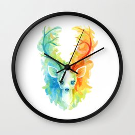 Feather Fawn Wall Clock
