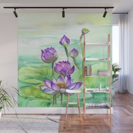 Peaceful Lily Pond Wall Mural