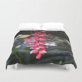 red exotic flower Duvet Cover