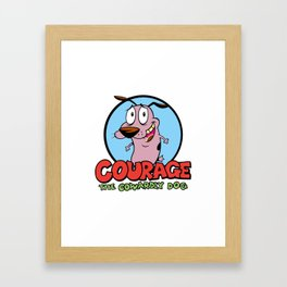 Courage the Cowardly Dog Framed Art Print