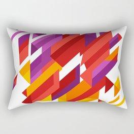 Array Of Triangles Geometric Patterns Rectangular Pillow