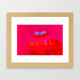 Maple  Motel Framed Art Print