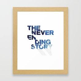 The neverending story Framed Art Print