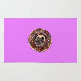 Pug Chocolate Donut Rug