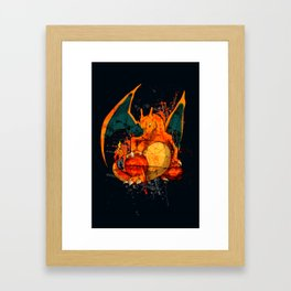Splatter Zard Framed Art Print