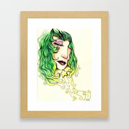 Dreaming Star Framed Art Print