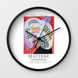 Matisse Exhibition - Aix-en-Provence - The Dream Artwork Wall Clock