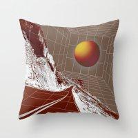 drive Throw Pillows featuring Drive by DM Davis