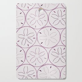 Sanddollar Pattern in Purple Cutting Board