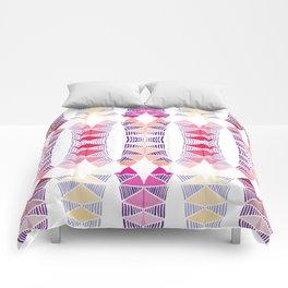 Colorful Tropical Vertical Geometric Zenspire Pattern Comforters