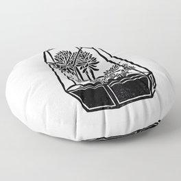 Terrarium Block Print Floor Pillow