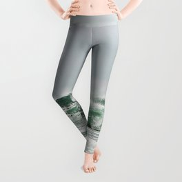 Explosive Green Surf of the St-Lawrence Leggings