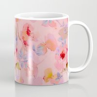 girly Mugs featuring girly floral by clemm