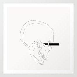 LINE #Skull (White) Art Print