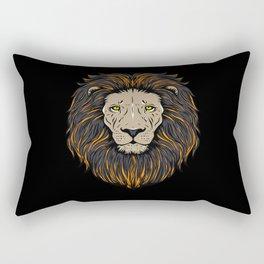 Lion Head Lion Motif Rectangular Pillow