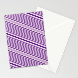 Purple Stripes Stationery Cards