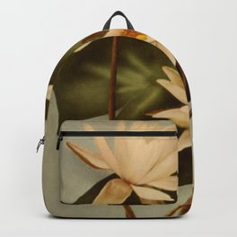 Vintage Water Lily Backpack