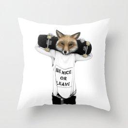 Fox'n'roll Throw Pillow