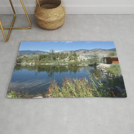 Landscape picture of northern BC Rug