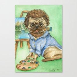 Pug Ross Canvas Print