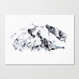 Denali  Mountain Watercolor Canvas Print