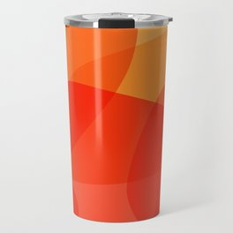 Abstract Organic Shapes in Red Travel Mug