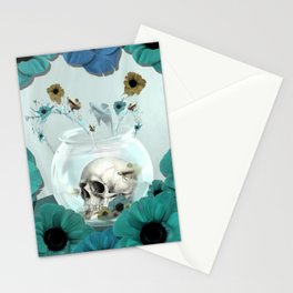 Looking glass skull Stationery Cards