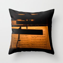 Habanera Notes Throw Pillow