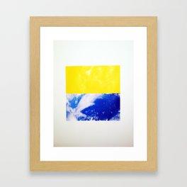 SKY/YLO Framed Art Print