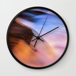 Stream of Swallowed Colors Wall Clock