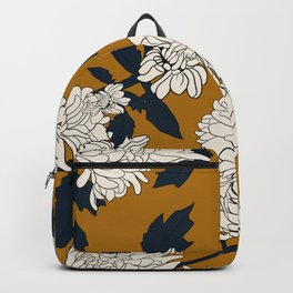 Orange paeony Backpack