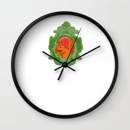 Wintertime squirrel Wall Clock
