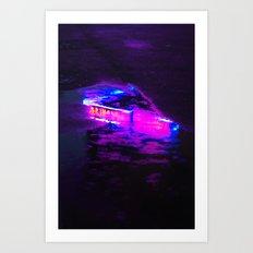 Wet Neon Art Print