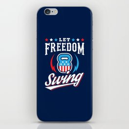 Let Freedom Swing iPhone Skin
