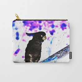 Ink Spots of the Black Feathered Cockatoo Carry-All Pouch