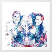 seinfeld Art Prints featuring Seinfeld by NKlein Design